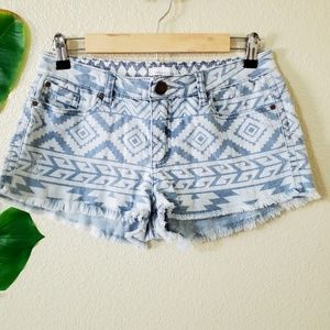 O'Neill Shorts - O'Neill Aztec Print High Waisted Shorts